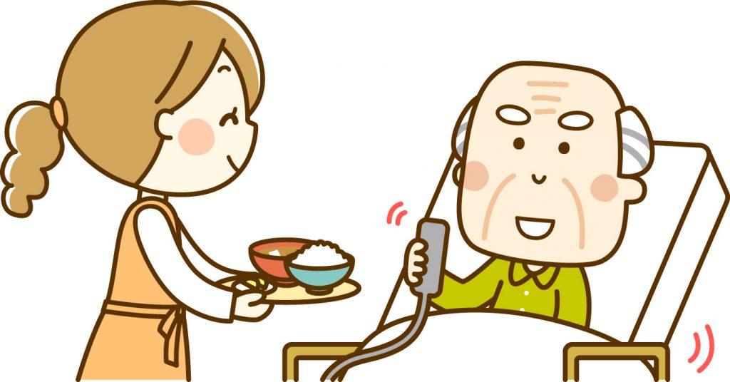 訪問看護師と老人